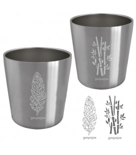 Arty - Tasses 180 ml - Lot de 2 - Bambou & Plume
